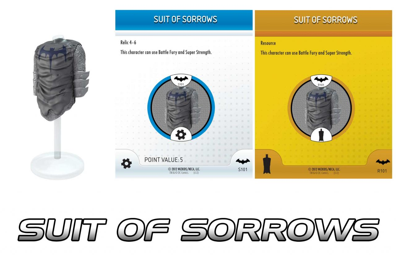 Heroclix Suit of Sorrows